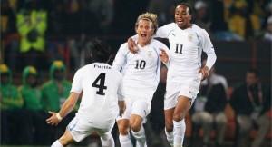 Forlan celebrates goal