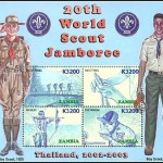 20th World Scout Jamboree commemorative stamp 2002-2003