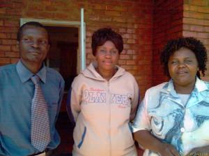 Charles Nkandu (Deputy Head)-Lt, Evelyn Manda (Careers Advisor)-M, Charity Chavula(Acting Head)-Rt