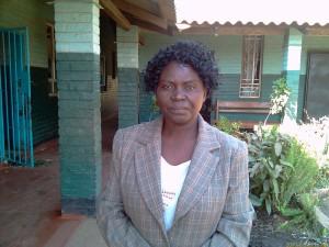 Mrs J.K. Mporokoso - Head Teacher, Chamboli Basic School 2010