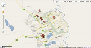 Location of Churches in Kitwe
