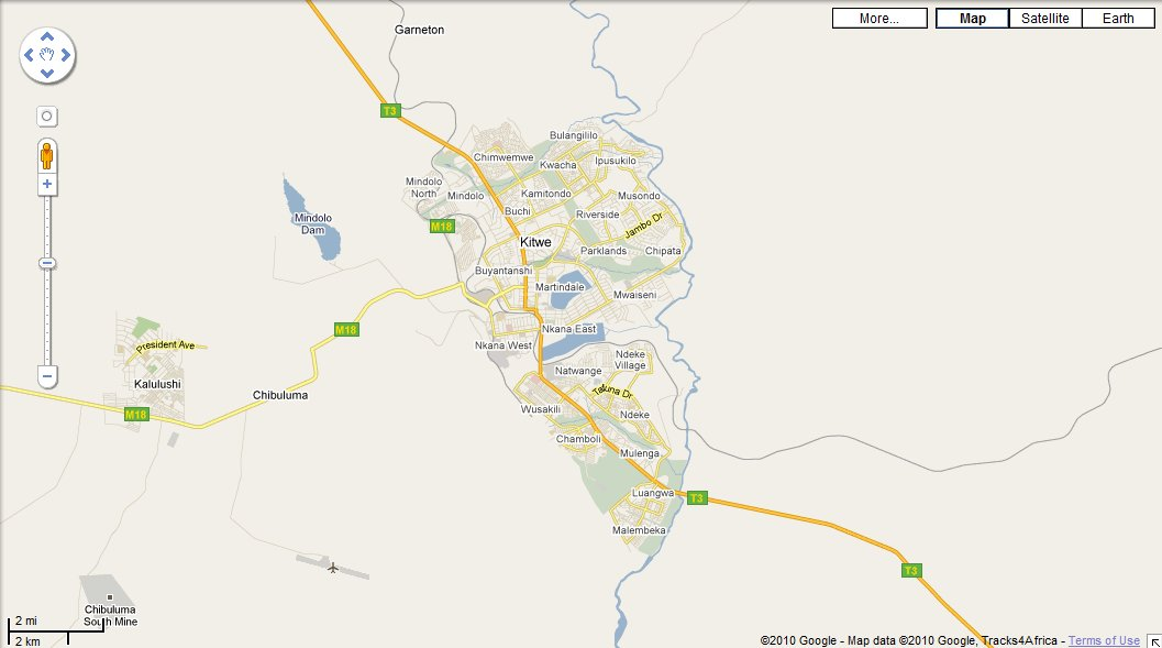 Map of Kitwe - KitweOnLine