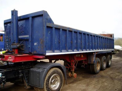 1996 Dennison Steel Tipping Trailer on Springs