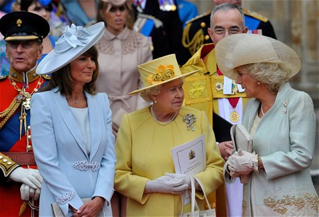 Prince Philip, Carole Middleton, the Queen and the Duchess of Cornwall - photo by REUTERS
