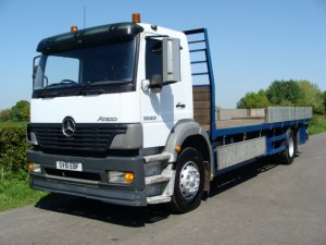 Mercedes Benz 1823 Flatbed Lorry 300x225 SALES