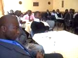 "Copperbelt University student leaders listen attentively to a talk on ""Assertiveness"""