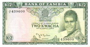 2 Kwacha note
