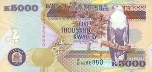 5000  Kwacha note