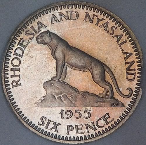 Rhodesia and Nyasaland coin