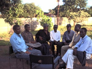 Kitwe Musicians relax in Wusakile, Kitwe - 4th February, 2001