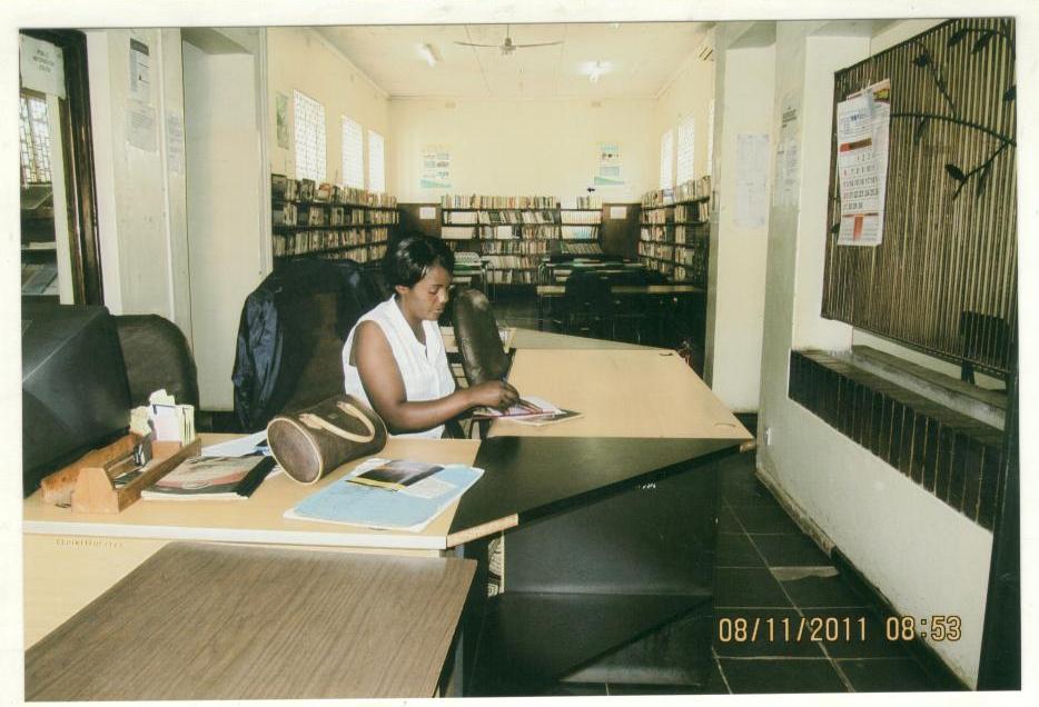 Kitwe Public Library entrance desk