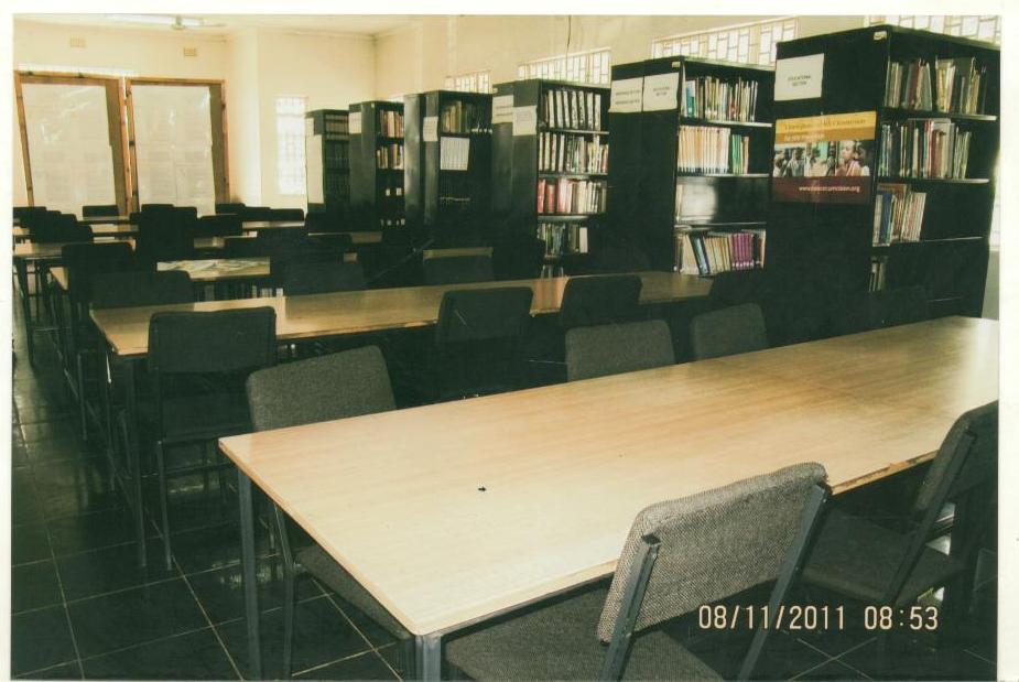 Kitwe Public Library shelves