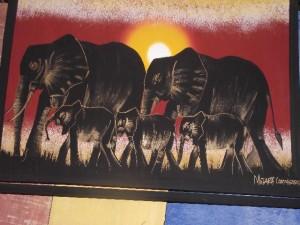 Elephant paintings 38 - Chisokone market - Kitwe