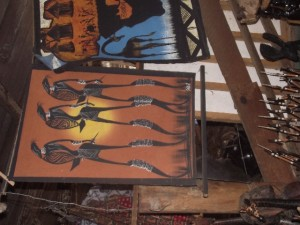 Figures painting 41 - Chisokone market - Kitwe