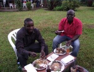 Icilanga Mulilo ceremony - The Groom with friends- kitweonline
