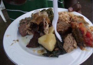 Meat dish 300x209 Zambian Marriage Traditions