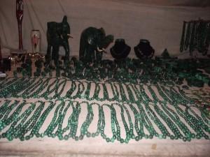 Necklaces - malachite 22 - Chisokone market - Kitwe