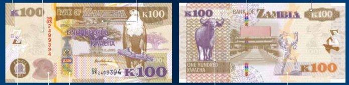 K100 - Zambian currency