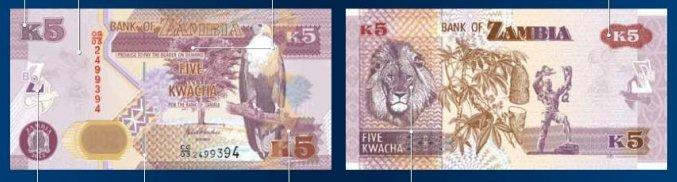 K5 - Zambian Kwacha