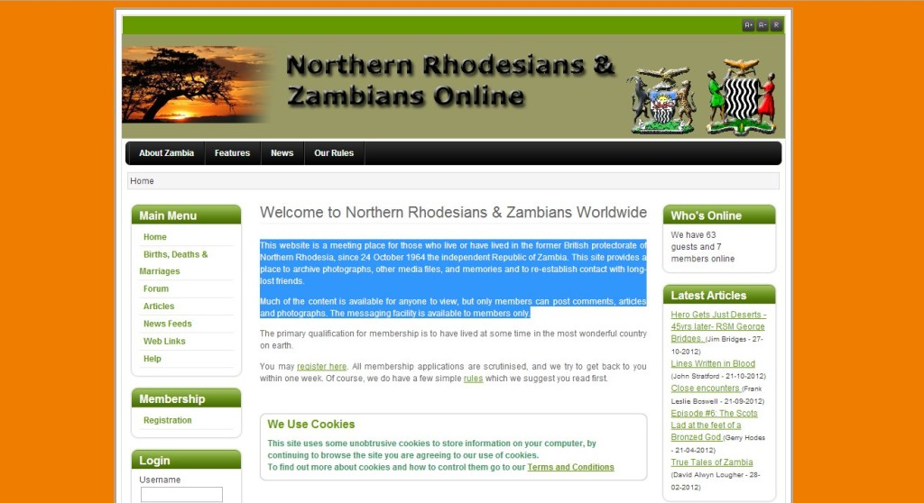 Northern Rhodesians and Zambians Online