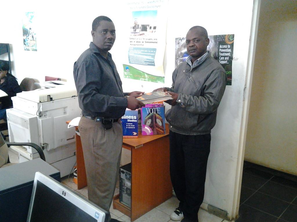 Richard Katebe (L), Simon Nkhoma (R) - kitwe public library