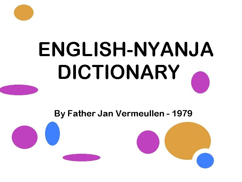 English-Nyanja Dictionary