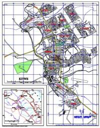 MAP OF KITWE - 1961