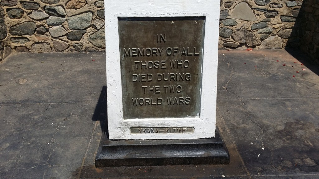 Kitwe - In Memory of All Those Who Died During the Two World Wars